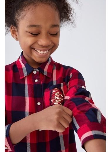 Guess Kız Çocuk Ekose Gömlek Renkli